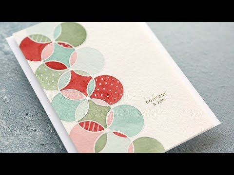 Holiday Card Series 2018 - Day 15 - Modern Design with Watercolors