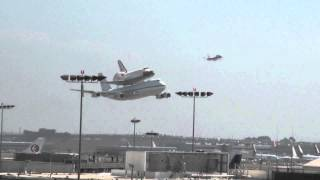 Space Shuttle Endeavour Low Pass Over LAX