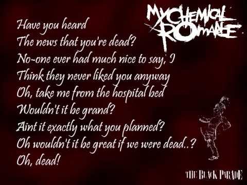 My Chemical Romance - The End and Dead! (lyrics)