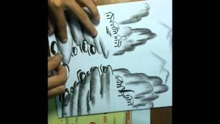 Vẽ tranh phong cảnh bằng than chì ( Hồ Viết An)