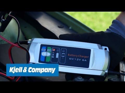Kjell-TV - Automatiskt bilbatteriladdare från Luxorparts