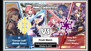 OTT (Battle Sister) vs PM (Harri Magia) - 10/15/17 - Cardfight!! Vanguard Baguio PH