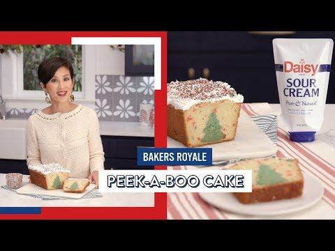 Christmas Tree Peek-A-Boo Cake
