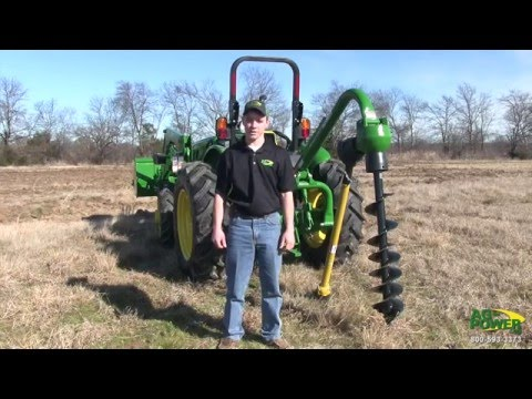 John Deere 5000 Series Tractor With Post Hole Digger Instructional