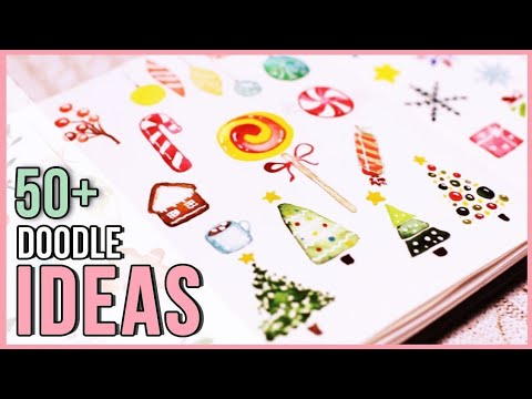 Christmas Holiday Watercolor Doodle Ideas | Art Journal Thursday Ep. 28