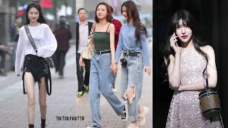 [抖音] Street Style - Phố Đi Bộ Trung Quốc Toàn Gái Đẹp, Gái Trung Quốc Phong Cách Như Thế Nào??? 🤩