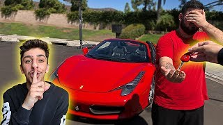 I stole his car.. then surprised him with his DREAM SUPER CAR!!