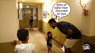 Murali Vijay FUNNY Moment Playing Cricket With Children In..