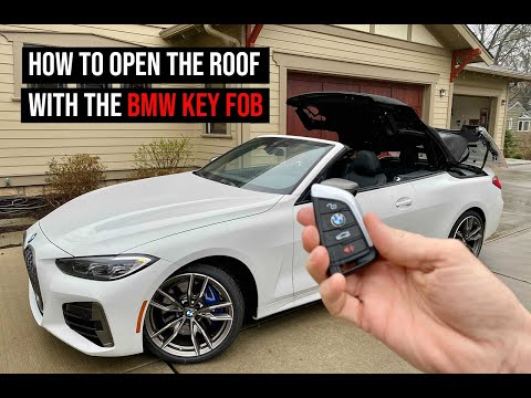 BMW 4 Series Convertible - Open and close the roof from the key fob