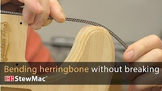 Watch the Trade Secrets Video, Dan Erlewine: How to bend herringbone without breaking it