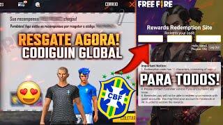 RESGATE AGORA!! CODIGUIN INFINITO, CODIGUIN PARA TODOS DO BRASIL E URUGUAI - FREE FIRE