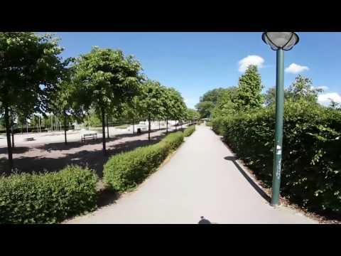 Cykeltur i södra Lunds idrottsområde