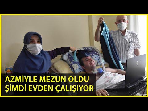 DMD Hastası Furkan'ın Azmi; Üniversiteyi Bitirdi, İşini Yapmaya Başladı