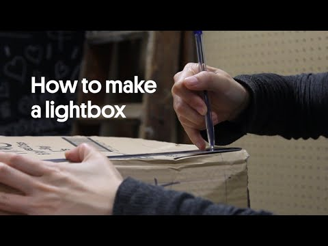How to make a lightbox for next to nothing