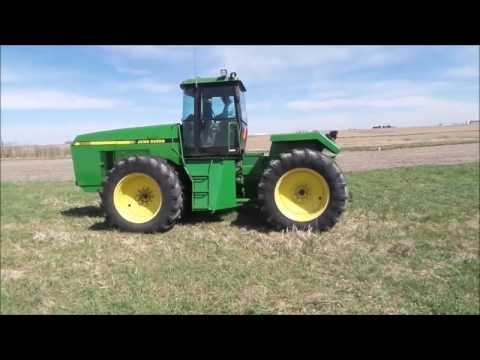 1992 John Deere 8560 4WD tractor for sale | no-reserve Internet auction May 17, 2017