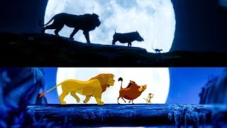 The Lion King Trailer #2 Side By Side Comparison (2019) Disney HD