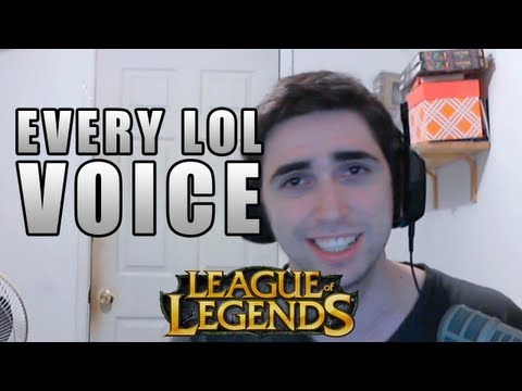 Repeat youtube video Voicing ALL the League of Legends Champions (As of 8/29/2012)