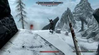 Skyrim Survival mode uncut (trolling draugr's to kill them self XD)