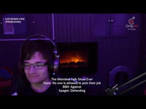 """No one can choose their job"" - The Weirdest Talk Show - Episode 4 - BadBoyHalo & Spaget"