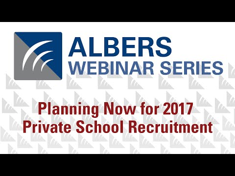 Planning Now for 2017 Private School Recruitment