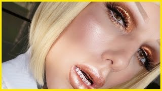 SUMMER BRONZE GLOW + METALLIC LIPS Makeup Tutorial | Jeffree Star