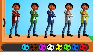 Learn Colors Coco Miguel Wooden Face Hammer Soccer Balls Wrong Dress Finger Family Nursery Rhymes