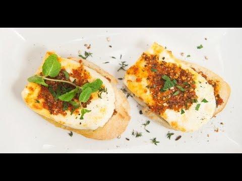 Бутерброды с жареным адыгейским сыром и с песто из вяленых томатов | Ужин? Не проблема!