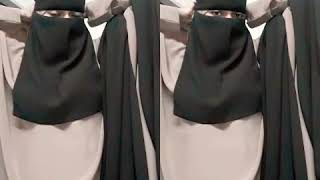 Styling Single Niqab With Square Hijab