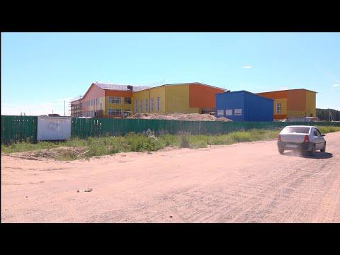 Строительство школы в селе Помоздино