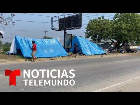 En carpas y en la calle viven damnificados por el huracán Eta en Honduras | Noticias Telemundo