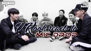 TaeKook/VKook VK reacts to MIC Drop [Vkook Focus] [ES & ENG Sub]