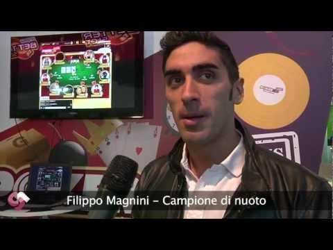 Filippo Magnini a Enada Rimini per Poker Club e Max Pescatori