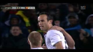 Landon Donovan Fantastic Goal 2-0 - USA vs Brazil - Confederations Cup Final 2009