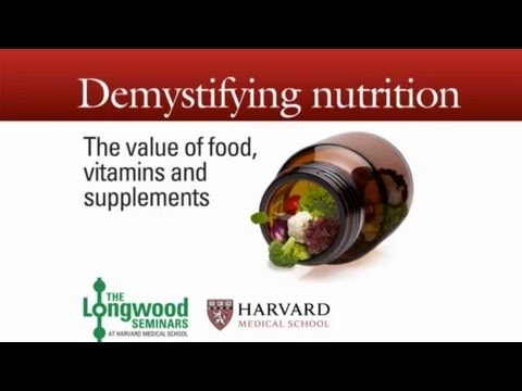 Repeat youtube video Demystifying Nutrition — Longwood Seminar