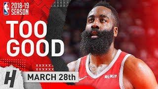 James Harden Full Highlights Rockets vs Nuggets 2019.03.28 - 38 Points, TOO GOOD!
