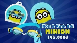Phụ kiện bơi Minion, áo phao, nón và mắt kính, phao bơi, bóng nước, phao tay - Toycity(Con Cưng)