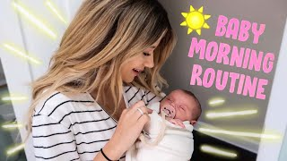 Mom and NEW BABY Morning Routine!