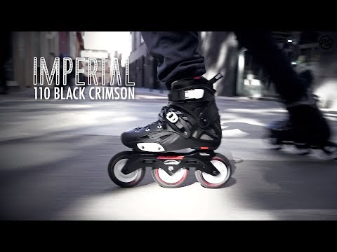 Video POWERSLIDE Roller freeskate IMPERIAL 110 Black Crimson Noir