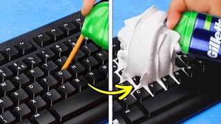 33 HANDY EVERYDAY LIFE HACKS || Genius DIY Ideas For Cleaning, Organization, Glue Gun And Slime