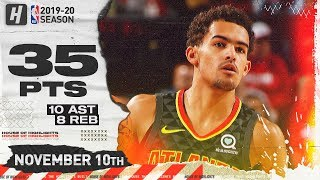 Trae Young Full Highlights vs Trail Blazers (2019.11.10) - 35 Pts, 8 Reb, 10 Assists!