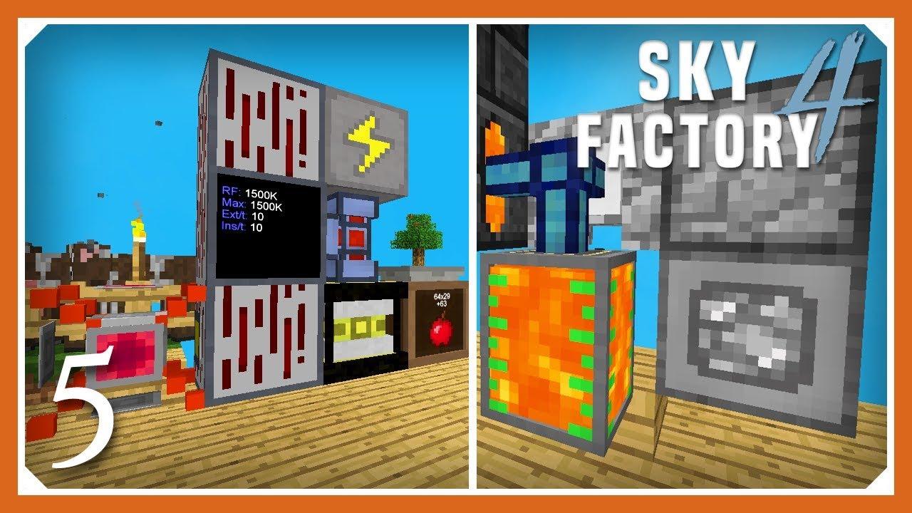 Sky Factory 4   Auto Lava, RF Power & Wireless Transfer!   E05 (Sky Factory  4 SMP Skyblock 1 12 2)