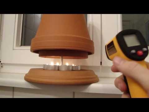 teelichtofen lampe selbst bauen 50 c mit diy selbstversorger candle powered heater musica. Black Bedroom Furniture Sets. Home Design Ideas