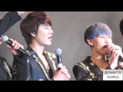 121211 Asia Super Showcase Malaysia Super Junior M - Kyuhyun speak Chinese