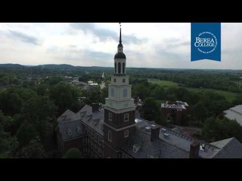 An aerial view of Berea College's 2016 graduation celebration