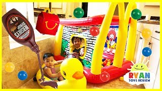McDonald's Drive Thru and Giant Ball Pits Water Inflatable toys