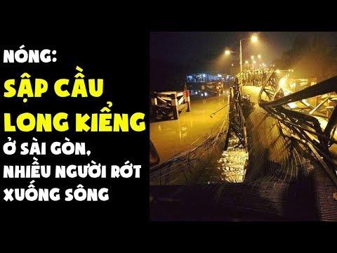 Trực tiếp - Sập cầu Long Kiểng ở Sài Gòn, nhiều người rớt xuống sông