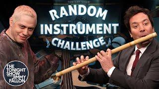 Random Instrument Challenge with Pete Davidson | The Tonight Show Starring Jimmy Fallon