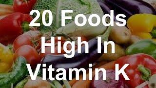 20 Foods High In Vitamin K
