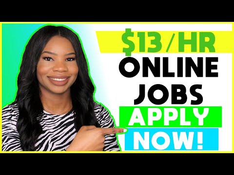 💵 $13 HOURLY Part-Time Online Work-From-Home Jobs!   Apply NOW!!