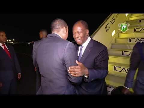 Arrivée du PR à Addis Abeba pour le 33e Sommet ordinaire des Chefs d'État et de Gouvernement